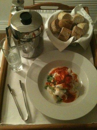 Doria Hotel Bodrum: Vegetable aubergine and yoghurt dish