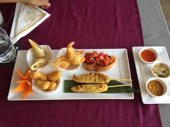 Bussaba Thai Restaurant: Vorspeisenteller für Zwei