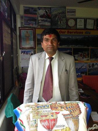 Hotel Global Inn: Mr.Bean of Nepal (Shekhar). The best sincere owner of the Global inn hotel with the humorous hos