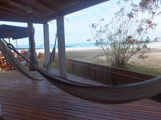La Casa de Marita: hammocks on front balcony