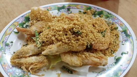 Restoran Top Seafood: Crispy crunchy oatmeal prawns