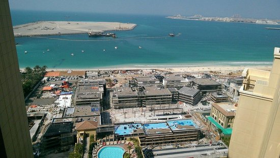 Amwaj Rotana: La vue sur la mer du 19 étage...:-(