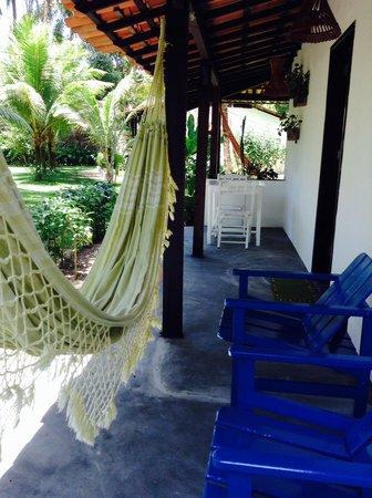 Pousada Chales Casa do Sol: Vista da varanda de uma das suites.