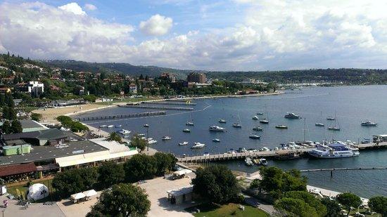 Hotel Slovenija - LifeClass Hotels & Spa : Вид из номера с фронтальным видом на море