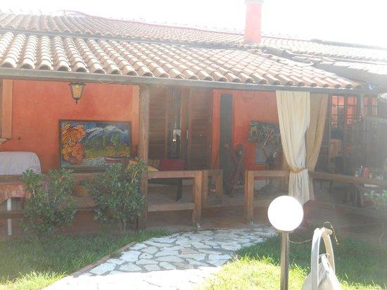 Valmontone B&B : patio