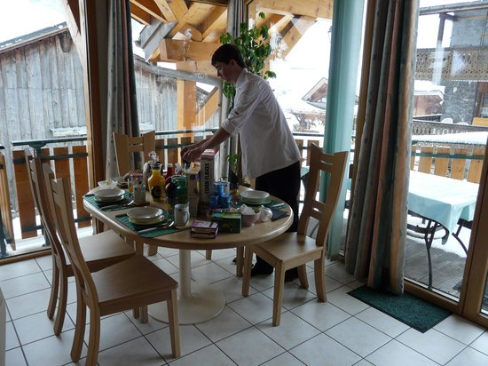 The Chalet Host Co.: Mickey getting breakfast ready