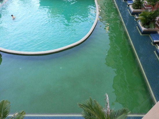 Aonang Ayodhaya Beach Resort: Theres muck in the pool. Remained the same for 5 nights I was there.