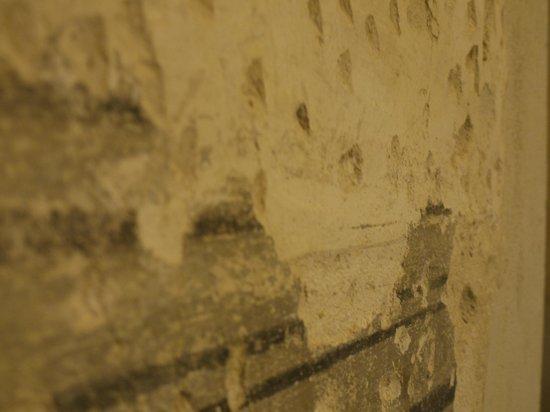 Relais Cattedrale: dettaglio picchettatura e affreschi vecchio muro, camera Liquiritiam