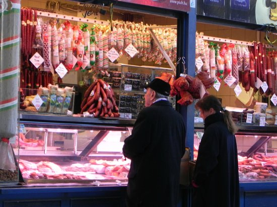 Central Market Hall: Stall selling various meats