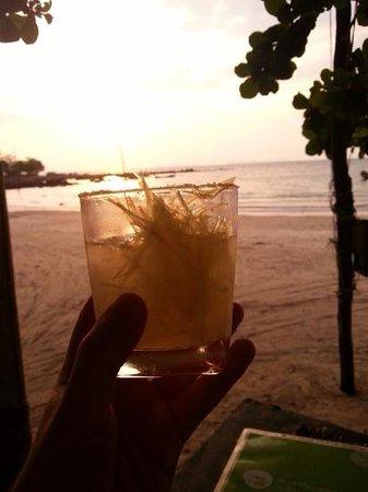Time for Lime's Restaurant: Lemongrass margarita whilst watching the sun go down