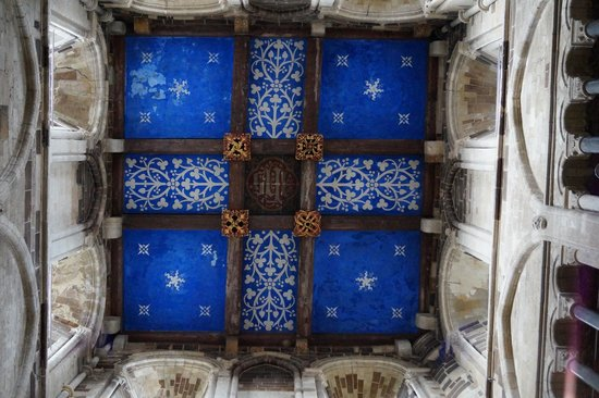 Wimborne Minster: Ceiling of the tower