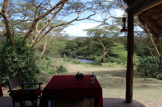 Malewa Wildlife Lodge: Our table - what a view!