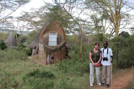 Malewa Wildlife Lodge: Going for a walk with Peter.