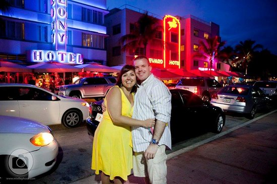 Outside the Colony Hotel on Ocean Drive. Photo: Miville Photography
