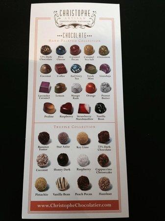Christophe Patissier-Chocolatier: Chocolate Selections