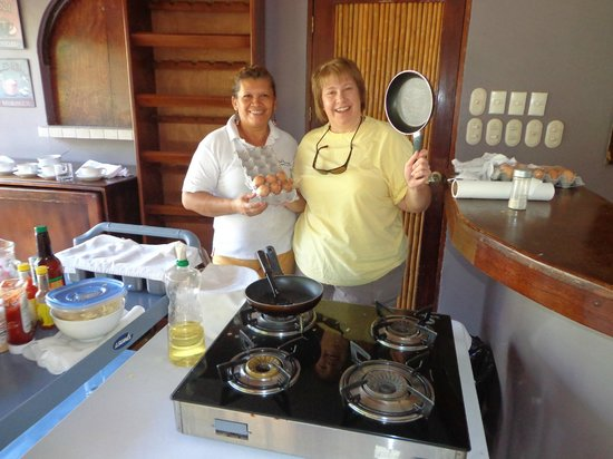 Hotel Arco Iris: Coco the Fabulous Omlette maker in the White Shirt