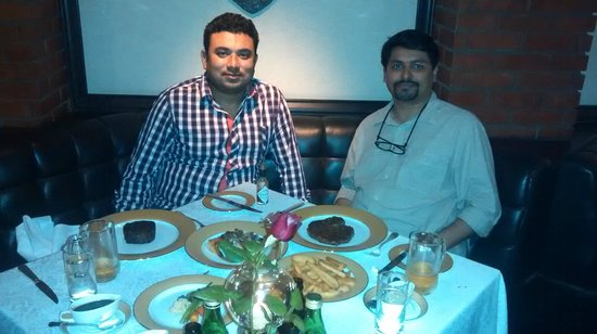 The London Grill: Enjoying a great Meal...