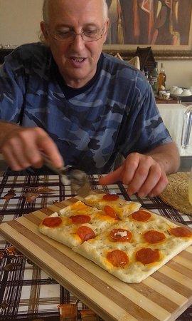 Casa Friuli Hostal Panama : degustazione di foccacia fatta in casa