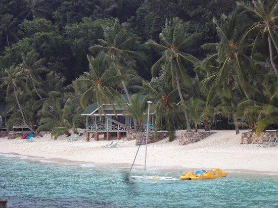 Rawa Island Resort: Unser Haus vom Landungssteg aus fotografiert