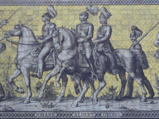 Fürstenzug: Procession of Princes mural detail