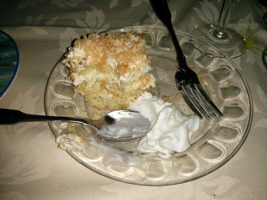 Blue Lion: Coconut & Peach Torte