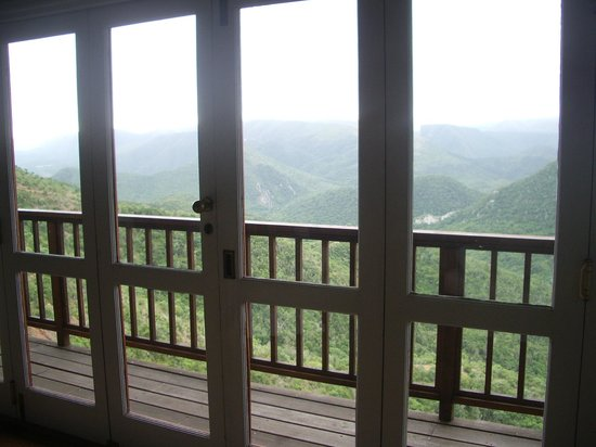Camp Figtree : View from sitting room