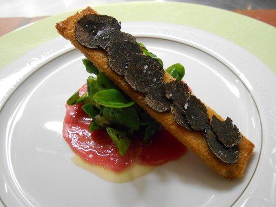 Supr me de faisan cromesqui au foie gras galette de for Restaurant le beaucet