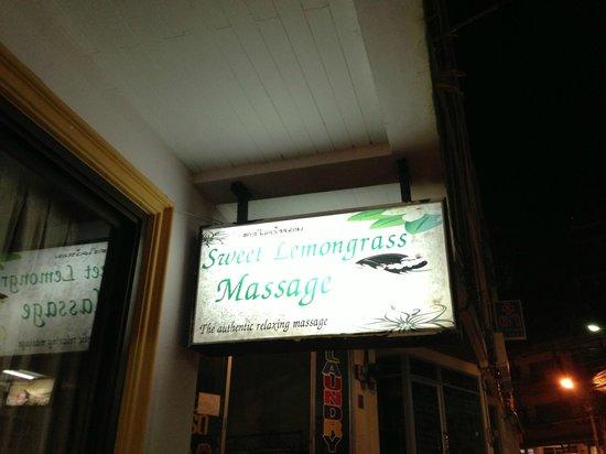 Sweet Lemongrass Massage: Business sign