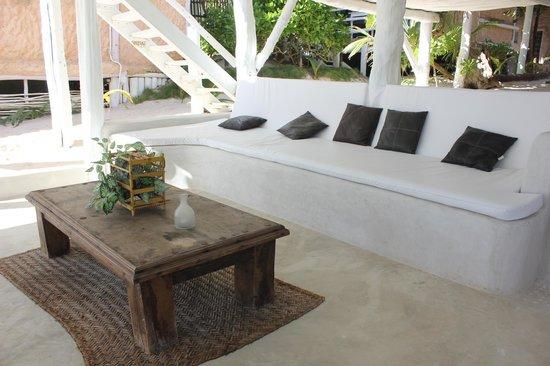 Posada Lamar: One of the sitting areas