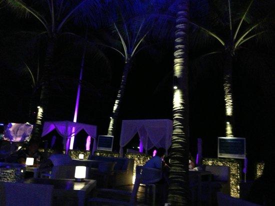 Twinpalms Phuket: Night time at the Beach Club across the street