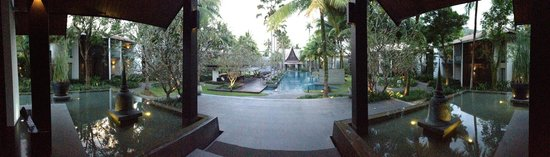 Twinpalms Phuket: View of pool from behind the lobby
