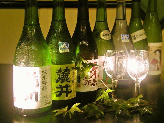 Wakaba Ryokan: 酒田にある7蔵全ての酒蔵のお酒が飲み比べできます。