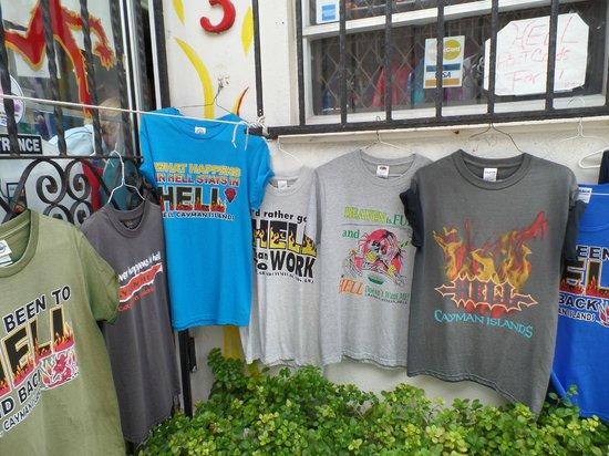 Hell: souvenir shop goods