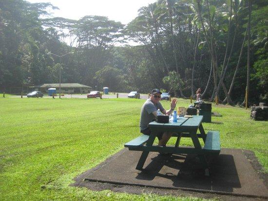 Kolekole Beach Park: Picnic area
