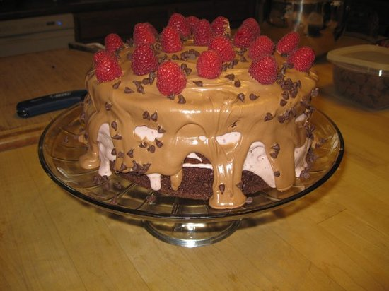 Berry Springs Lodge: Chocolate Raspberry Mudslide Cake for dessert