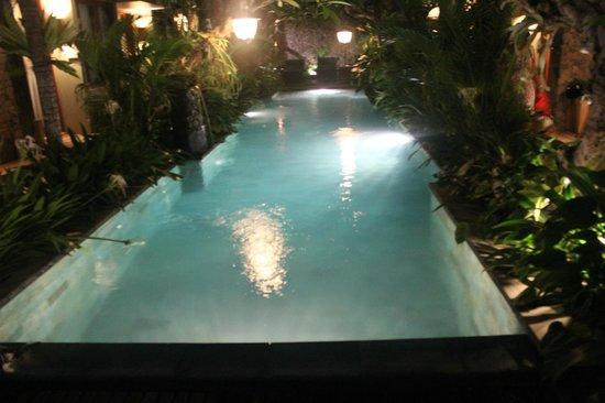 Uma Karan: Pool at night