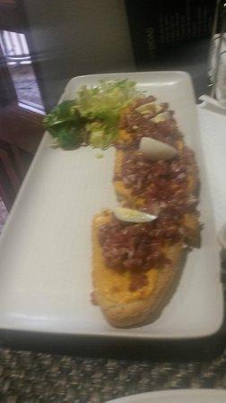 Restaurante Carmela: Tosta de Jamón y salmorejo