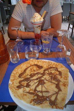 Restaurant Les Voiliers: crêpe au chocolat