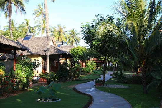 Bao Quynh Bungalow: Bungalows facing the garden