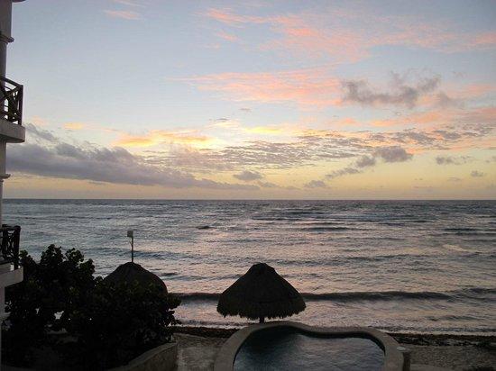 Playa Caribe: Sunrise from balcony