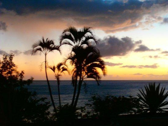 Langley Resort Hotel Fort Royal Guadeloupe : Coucher de soleil de la chambre
