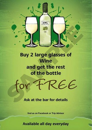 The Duchess Pub: Wine Deal