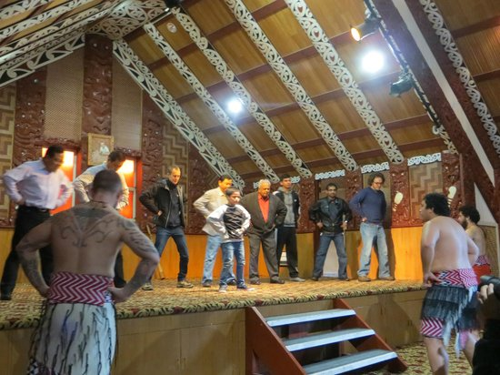 Te Puia: Some audience participation during the show