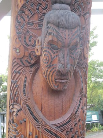 Te Puia: One of the carvings