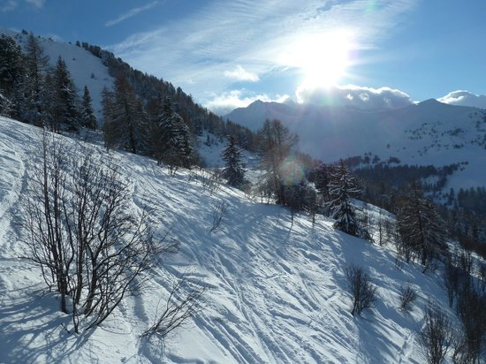 La Plagne Ski Resort: On the way back from Montalbert to La Plagne