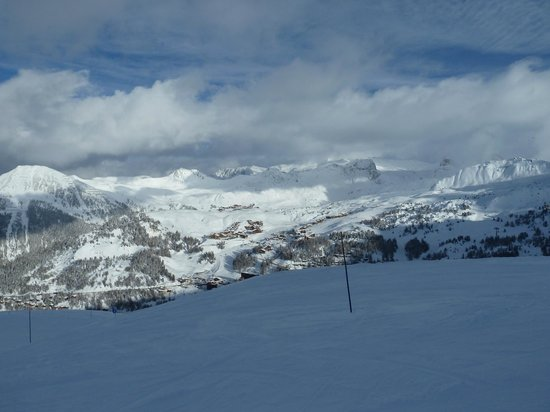 La Plagne Ski Resort: Looking from Aime La Plagne
