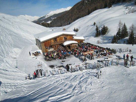 La Plagne Ski Resort: On the way down to Champagny