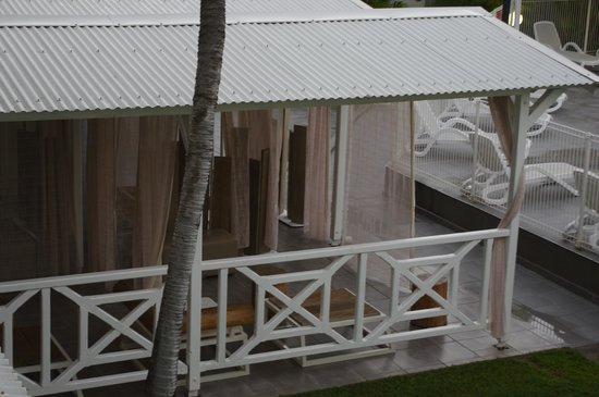 Bwa Chik Hotel & Golf: terrasse agréable pour se reposer ou boire un ti punch !
