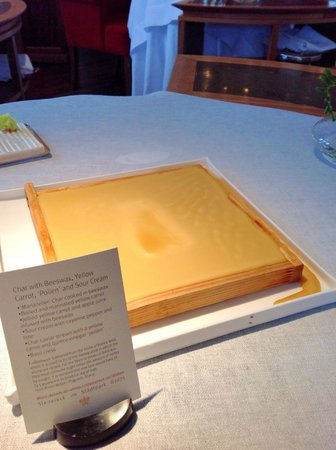Steirereck: Fish cooked in beeswax