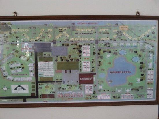 First Bungalow Beach Resort : plattegrond van resort
